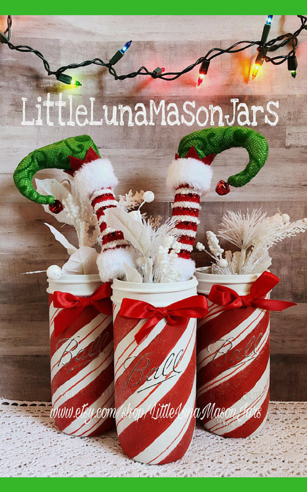 the office christmas ornaments. Love This Candy Cane Mason Jar For The Office | Christmas Decor Ornaments N