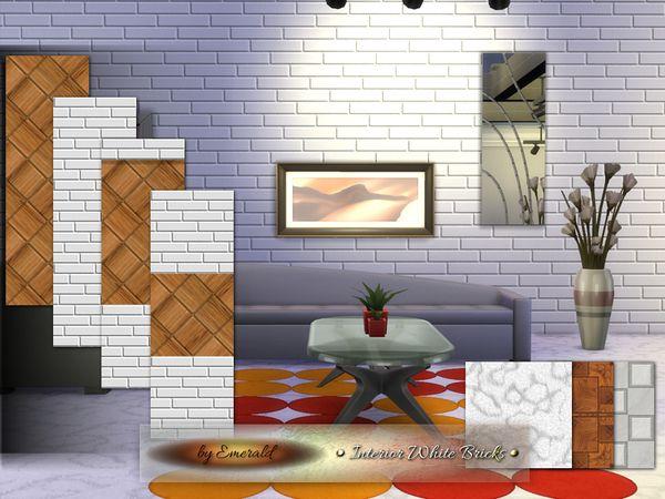 Sc 2015 08 3214 White Brick Sims 4 Custom Content Interior