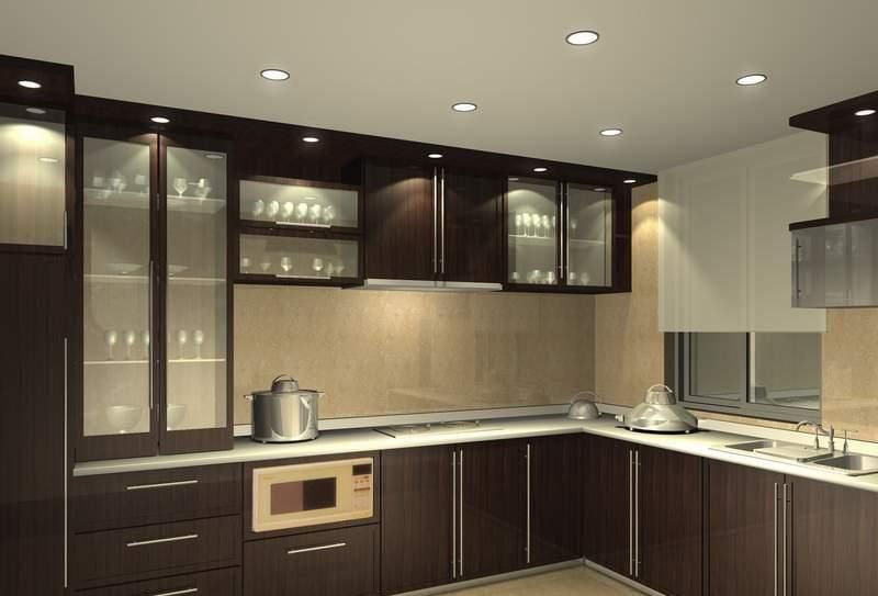 Colores Wengue Modular Kitchen Cabinets Kitchen Modular Interior Design Kitchen