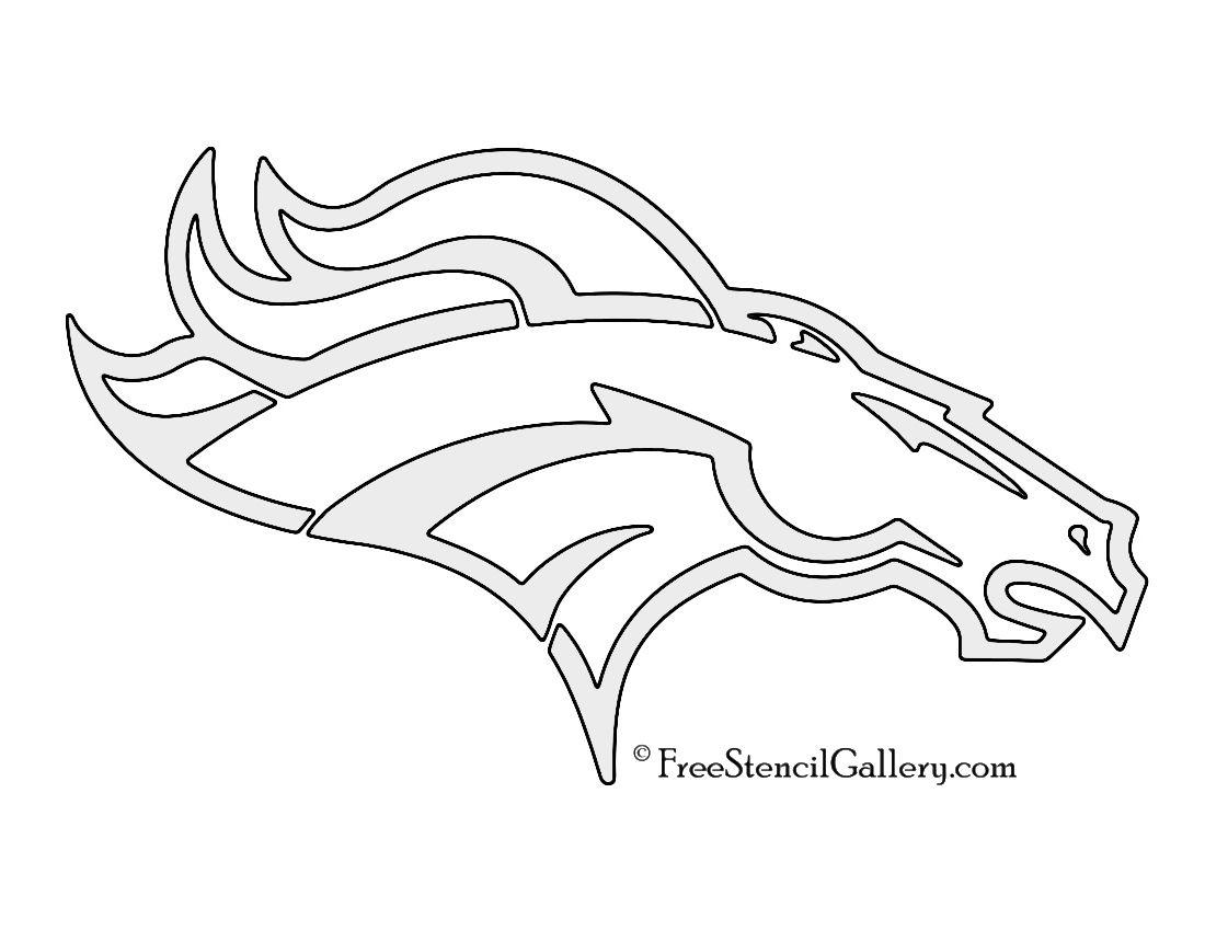 NFL Denver Broncos Stencil | Football coloring pages ...