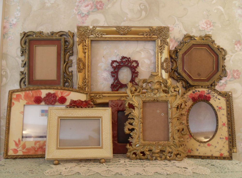 Ornate Open Picture Frames Gold~Red Vintage Style~Wedding~ Romantic ...