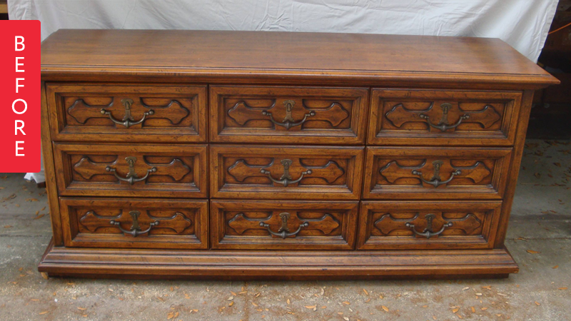 Before Amp After Say Hola To This Henredon Honey Dresser