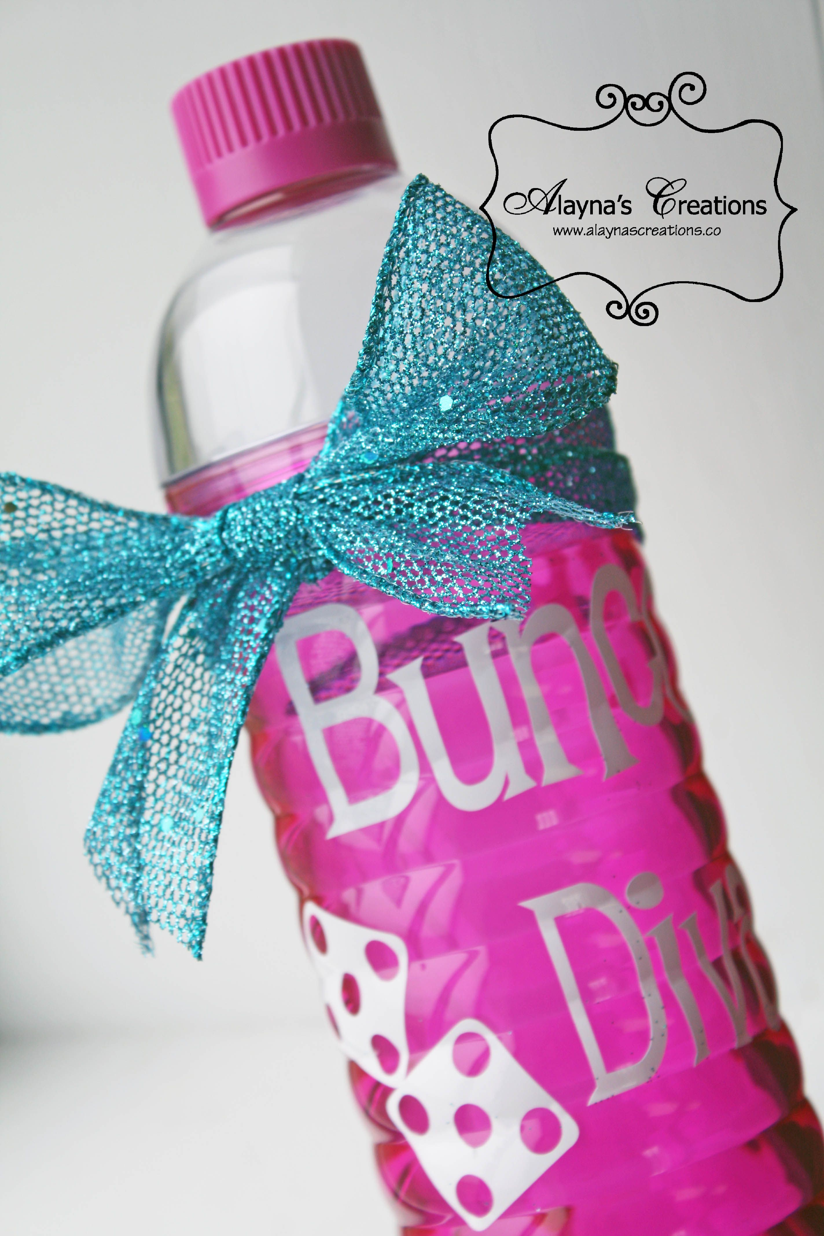 Bunco Water Bottle - White Elephant Gift | My Favorite Creations ...