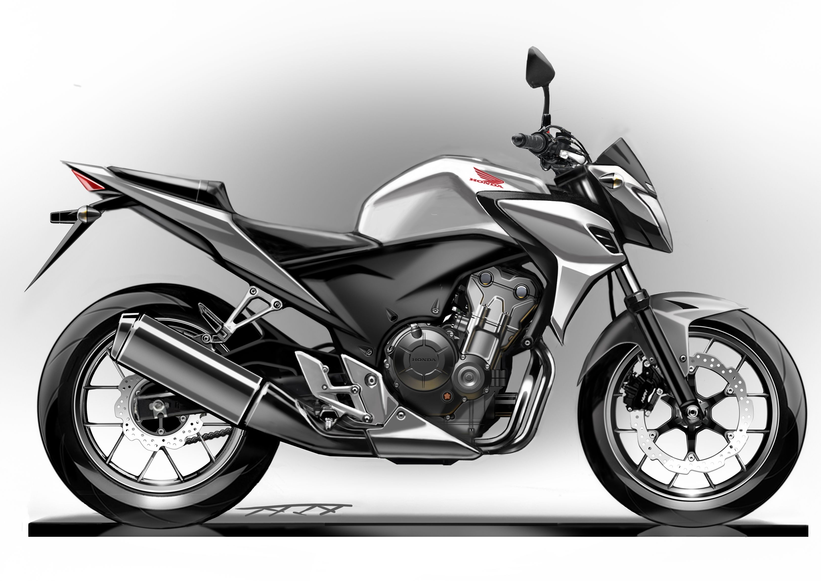 CB500F_FinalSketch_SIDE.jpg (3246×2300) | Sketch | Pinterest ...