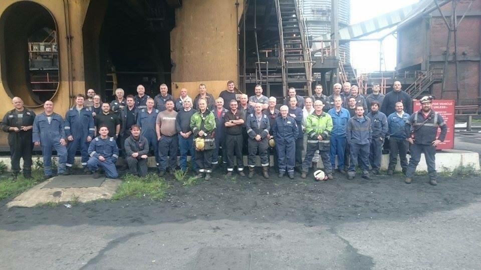 This is what a #northernpowerhouse looks like. The Redcar Coke Ovens Engineering Team. #steelheroes