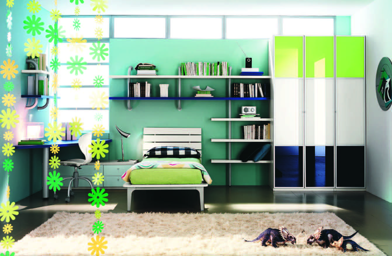 Fabulous modern themed rooms boys girls modern young girls bedroom