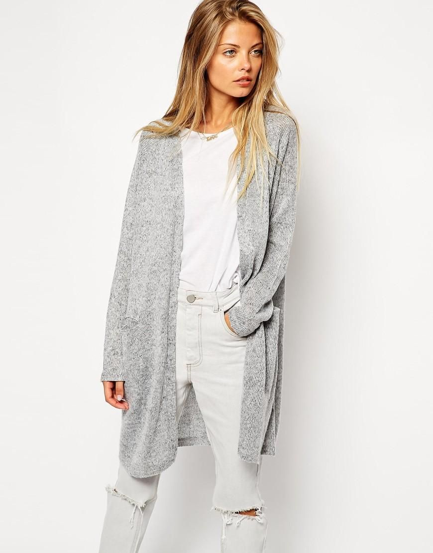 ASOS | ASOS Longline Knitted Look Cardigan at ASOS | She's got the ...