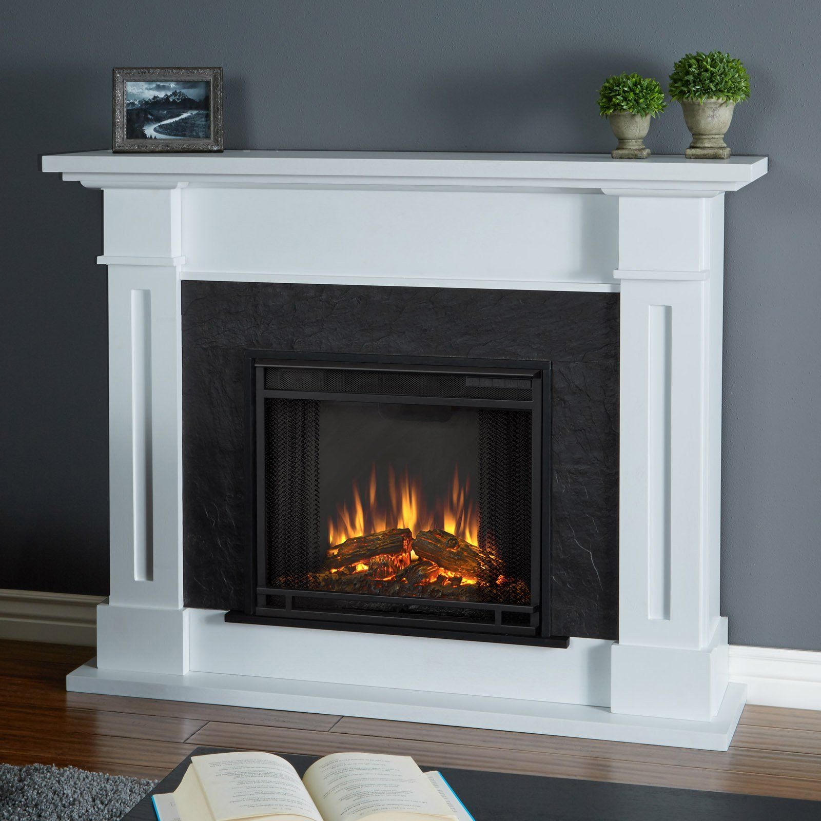 Electric fireplace bioethanol traditional open hearth ELDA