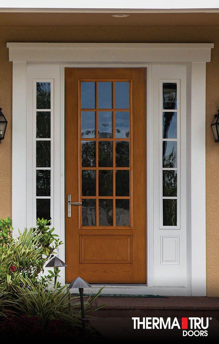 Therma Tru 8 0 Fiber Classic Oak Collection Fiberglass Door With