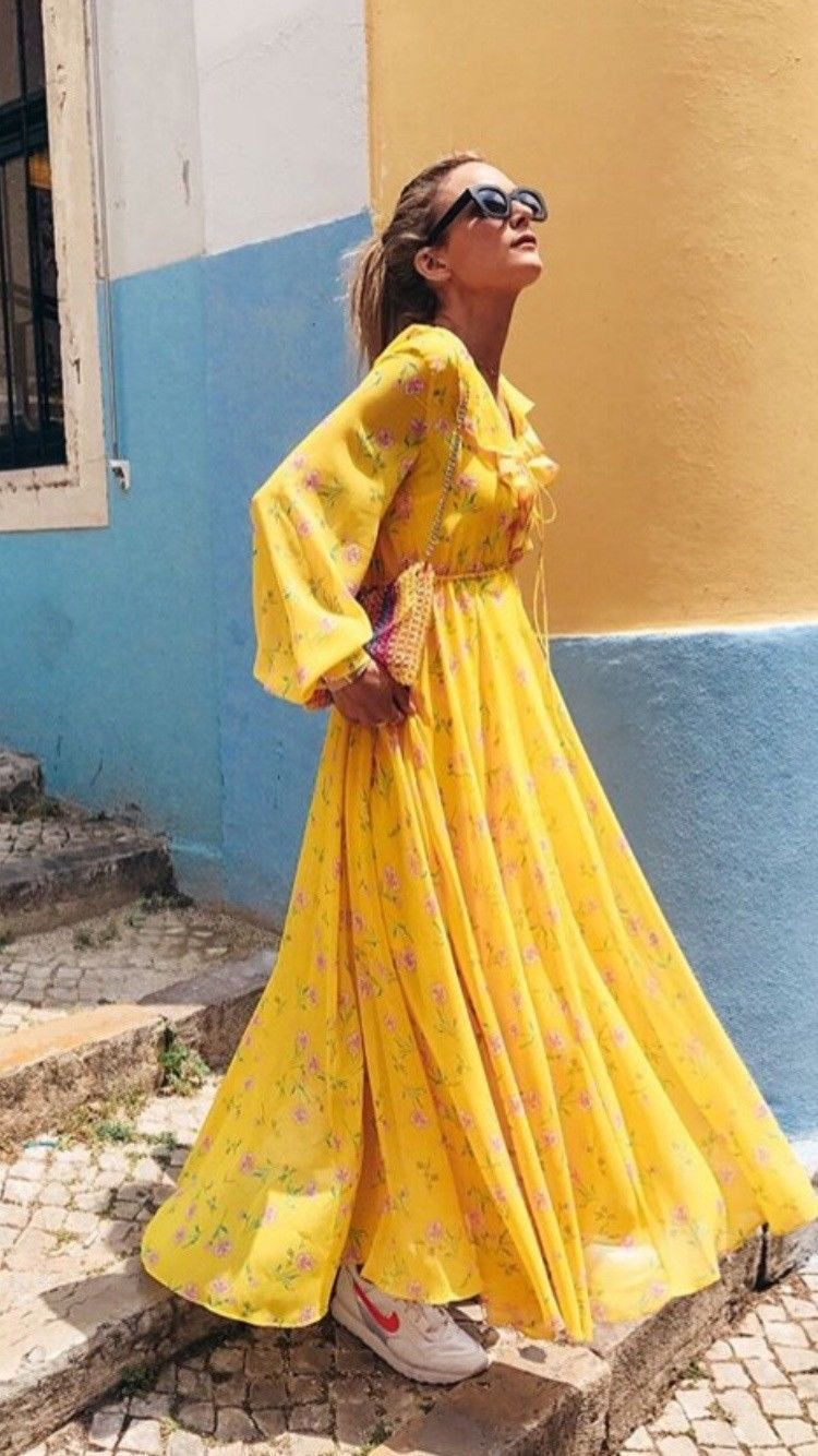 Bnwt Topshop Yellow Floral Floaty Maxi Dress Size Uk 12 Long Floral Maxi Dress Floaty Maxi Dress Dresses