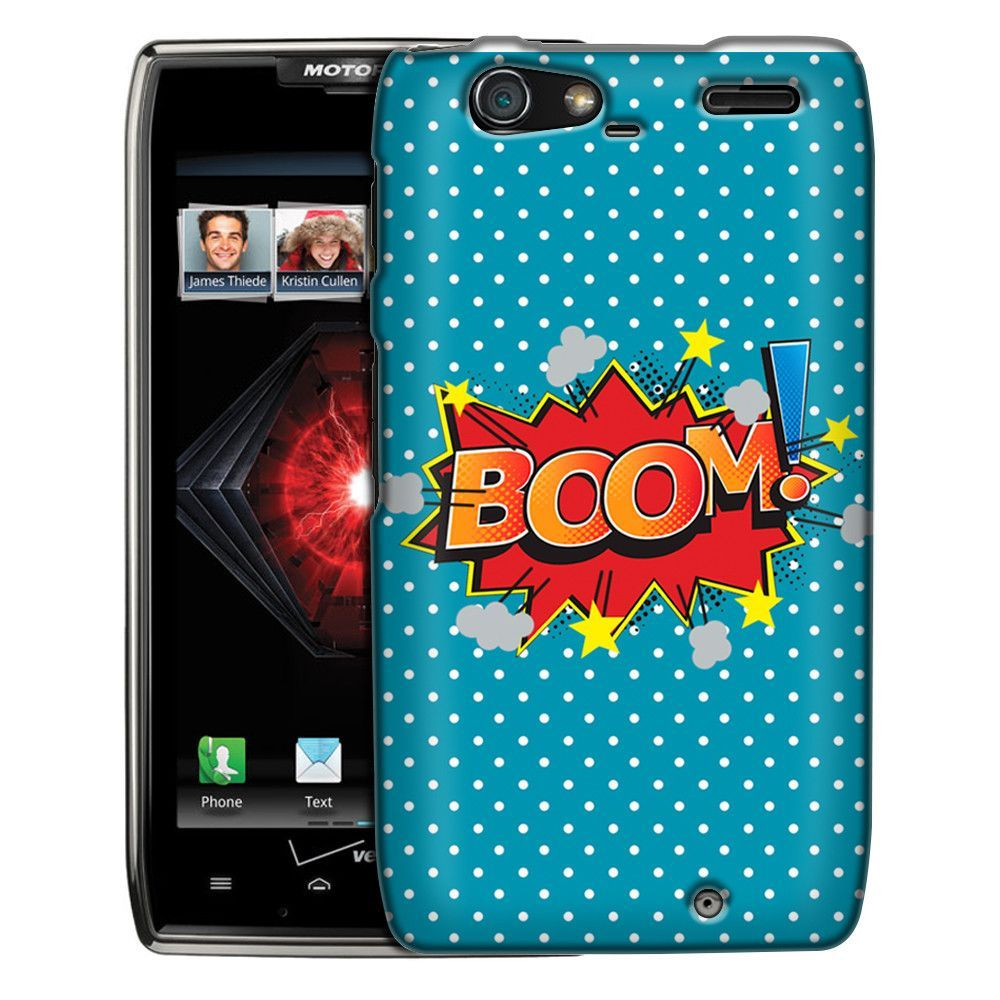 Motorola Droid Razr Maxx BOOM! Comic Book on Blue Slim Case