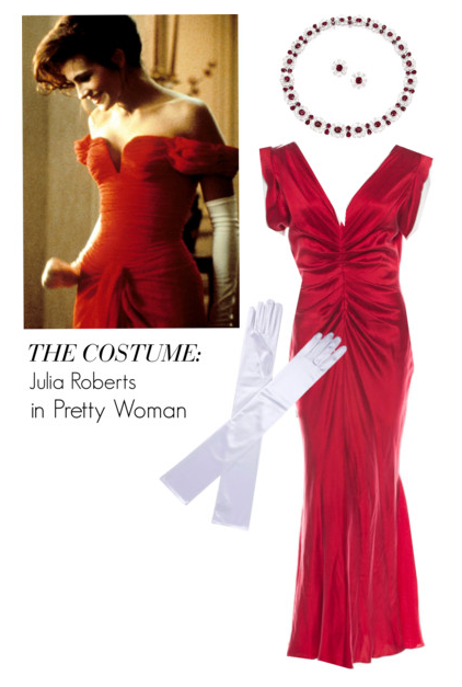 386aae51151 Vintage Halloween Costume  A strapless  80s-style red dress