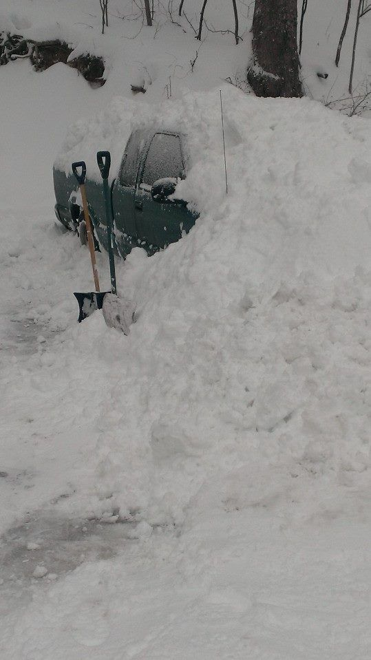 mark lucas, stanley  got snowed in, plus bored so i buried my uncles truck:) #WHSVsnow