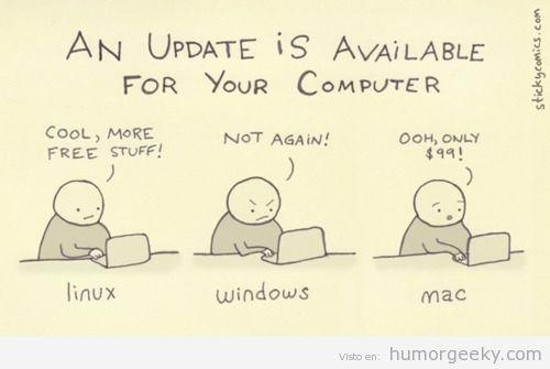Actualizaciones disponibles si tu sistema operativo es linux, windows o mac