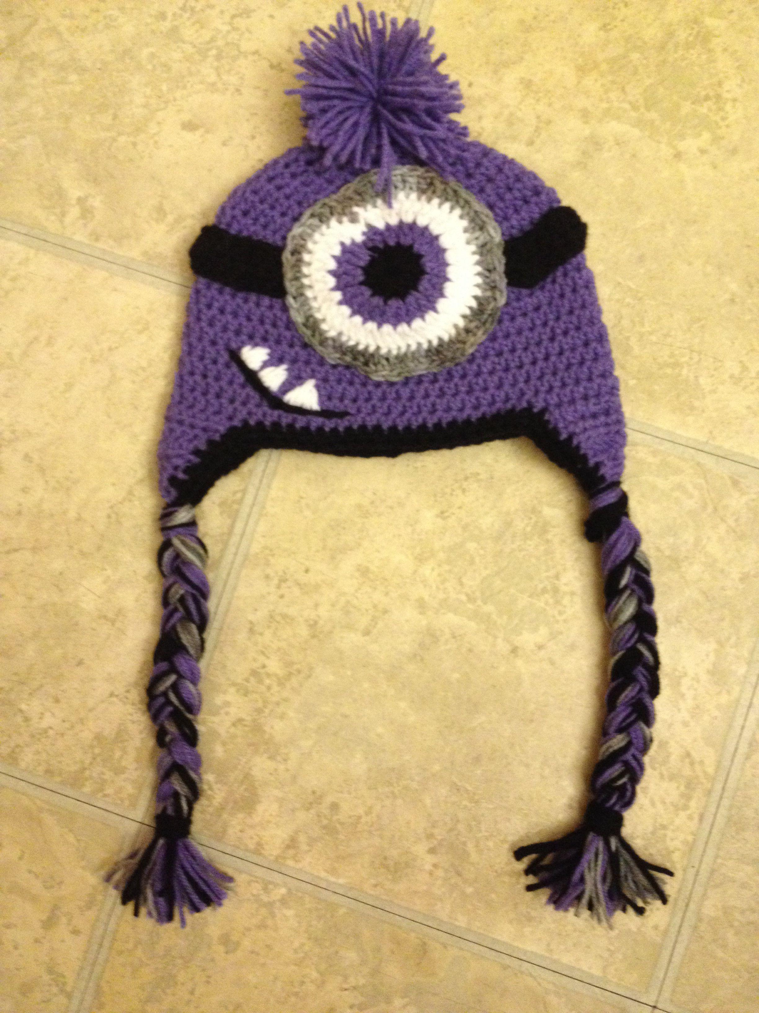Purple minion crochet hat | Diseño | Pinterest | Tejido