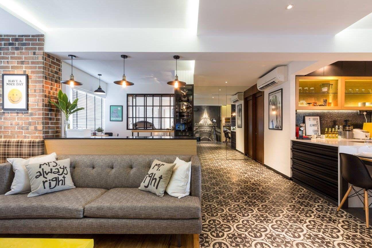 HDB Resale Flat living room interior design finelinedesign