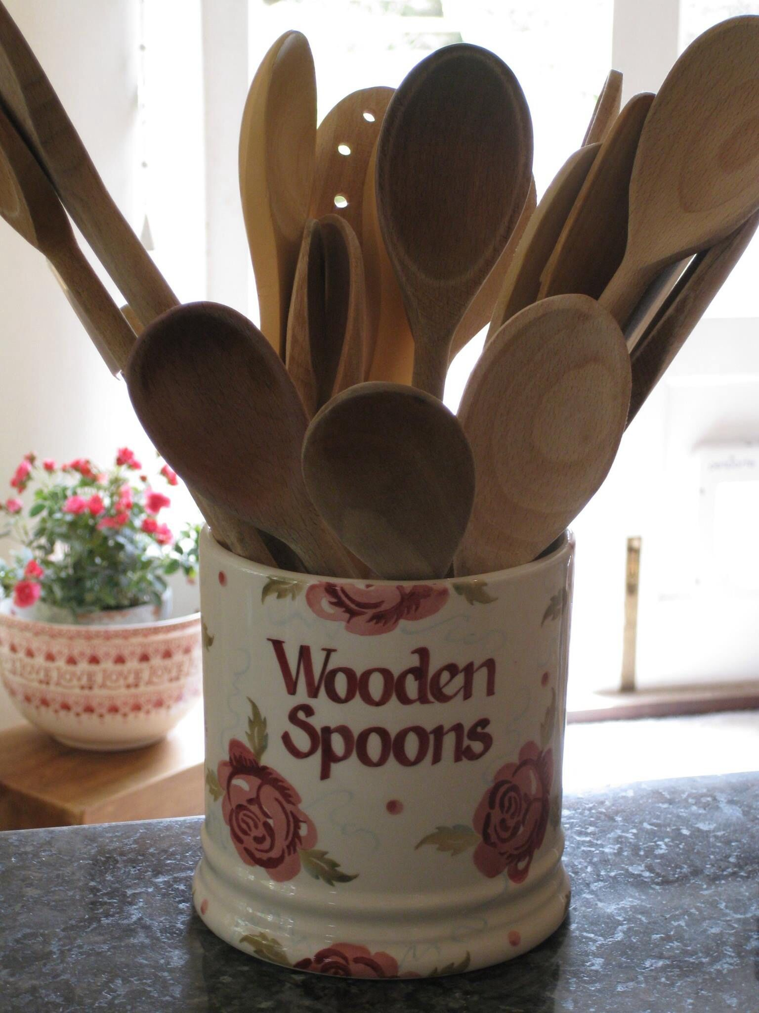 Emma Bridgewater Rose Bee Personalised 2 Pint Storage Jar For Your Wooden Spoons 2014