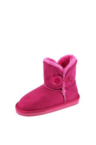 f3667e2a212 VIVIAN Kid's Girl's Cold Weather Mini Button Shearling Boots Winter ...