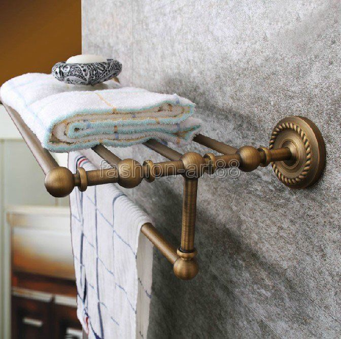 Vintage Retro Antique Brass Wall Mounted Bathroom Towel Bar Rack Fba087 Bathroom Towel Bar Towel Bar Antique Bathroom Ideas