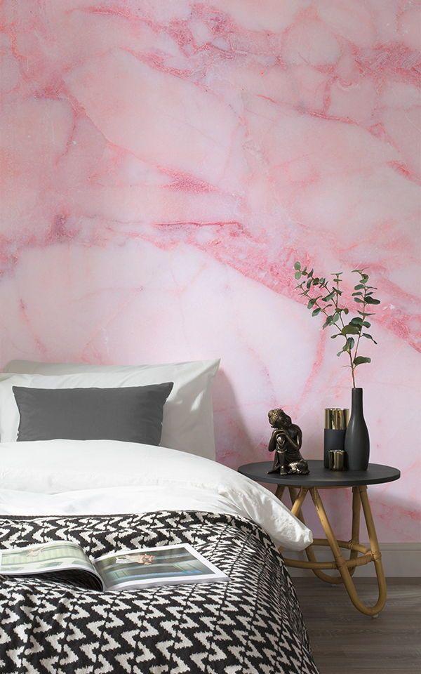 Rosa Rissige Marmorwandtapete With Images Bedroom Decor Girl Room Inspiration Wallpaper Design For Bedroom