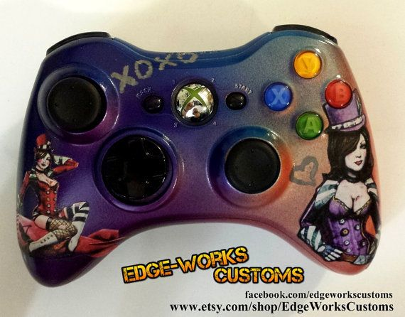 Borderlands Mad Moxxi Xbox Controller by EdgeWorksCustoms on