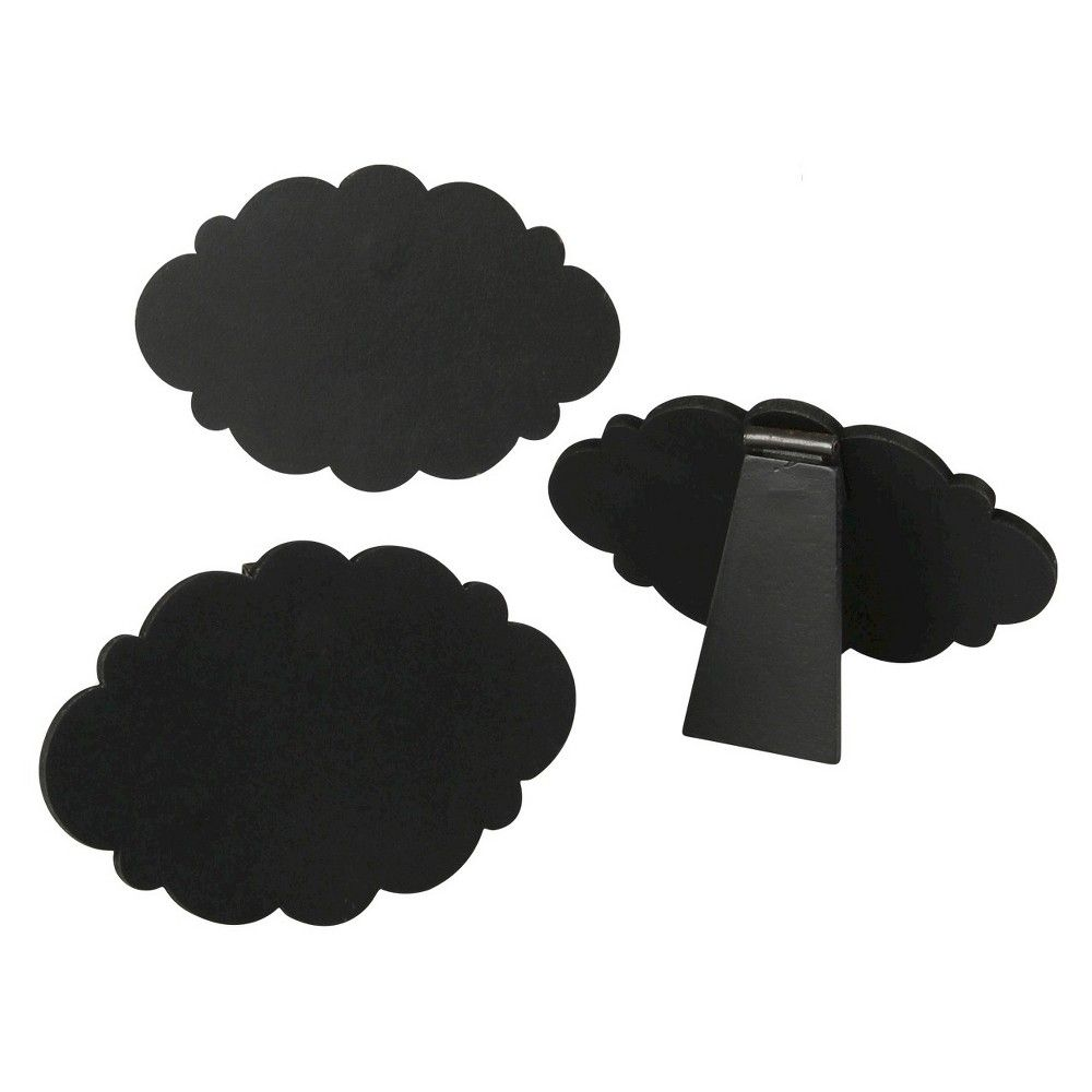 Chalkboard Easel Mini Frameless Cloud Black Party Decoration - 5 count