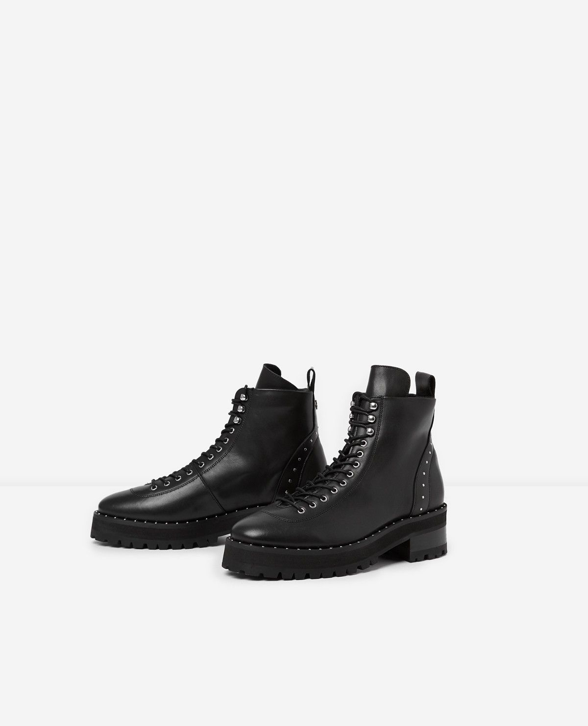 2019Soldes noir cuir BUYen lacéesTO Bottines N0Ovwm8n