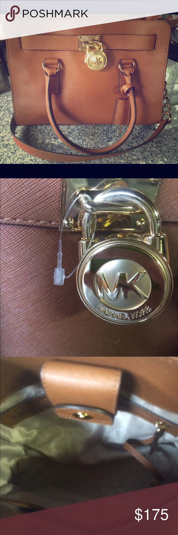 MICHAEL KORS HAMILTON SATCHEL Beautiful and brand new without tags but still has tag thingy attached so has never been carried! Perfect fall bag! Michael Kors Bags Satchels