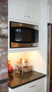 Microwave With Trim Kit Design Ideas Pictures Remodel And Decor Kitchen Remodel Country Kitchen Microwave Cabinet