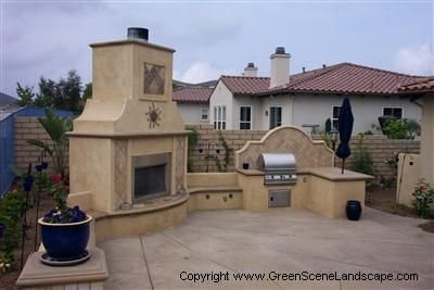 Spanish style sand outdoor kitchens the green scene for Spanish style outdoor kitchen