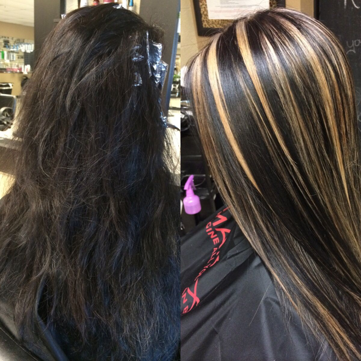 Brown Hair Long Hair Blonde Highlights Chunky Highlights Hair