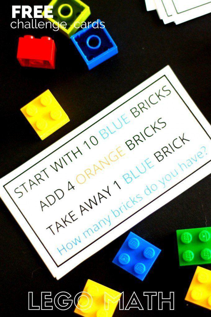 LEGO Math Challenge Cards and Activities   Math challenge, Challenge ...