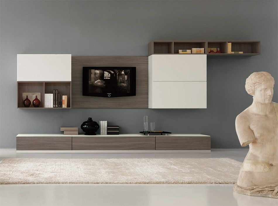 Italian wall unit velvet 915 by artigian mobili 3 859 for Italian design mobili
