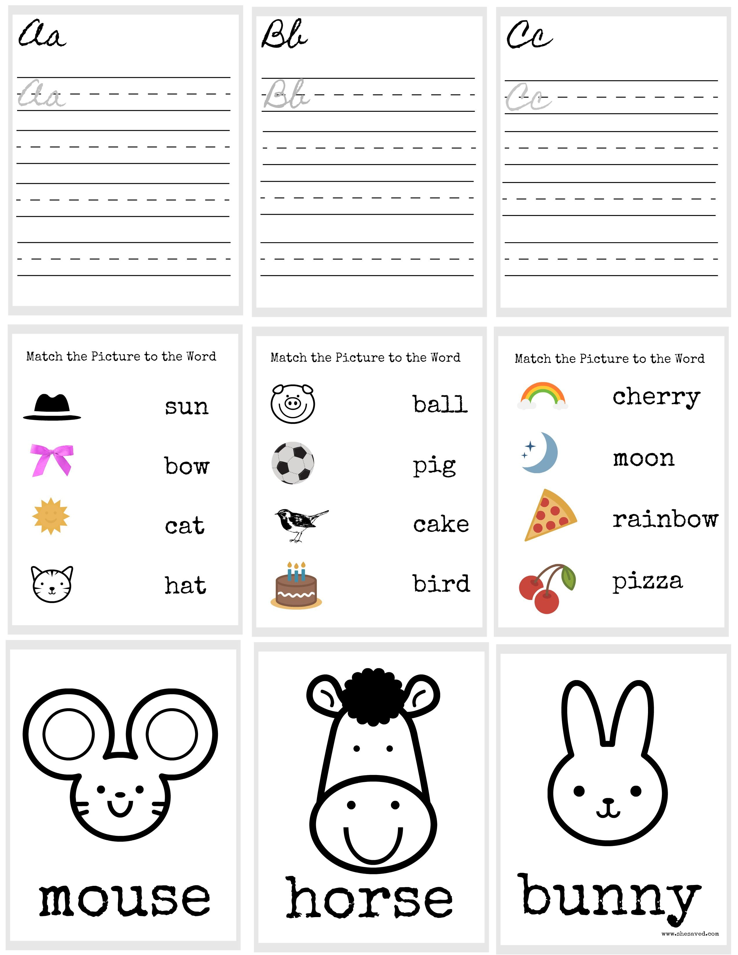 Free Printable Doll Sized School Worksheets