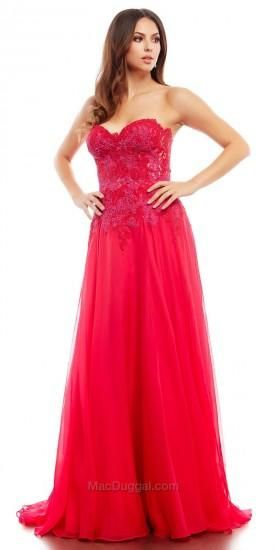 Embellished Lace Applique Prom Dress by Mac Duggal #dress #dresses ...