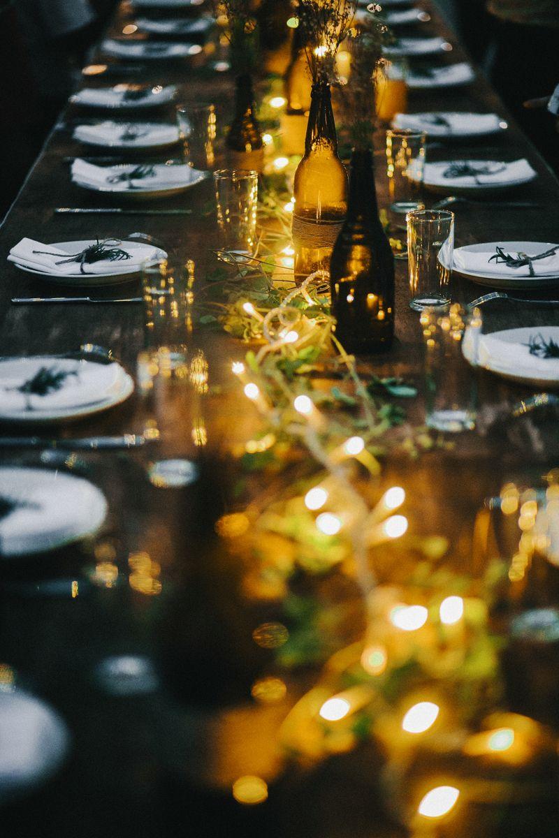 Barn wedding with fairy lights  André and Bibius Romantic Rooftop Wedding In Taiwan  barn wedding