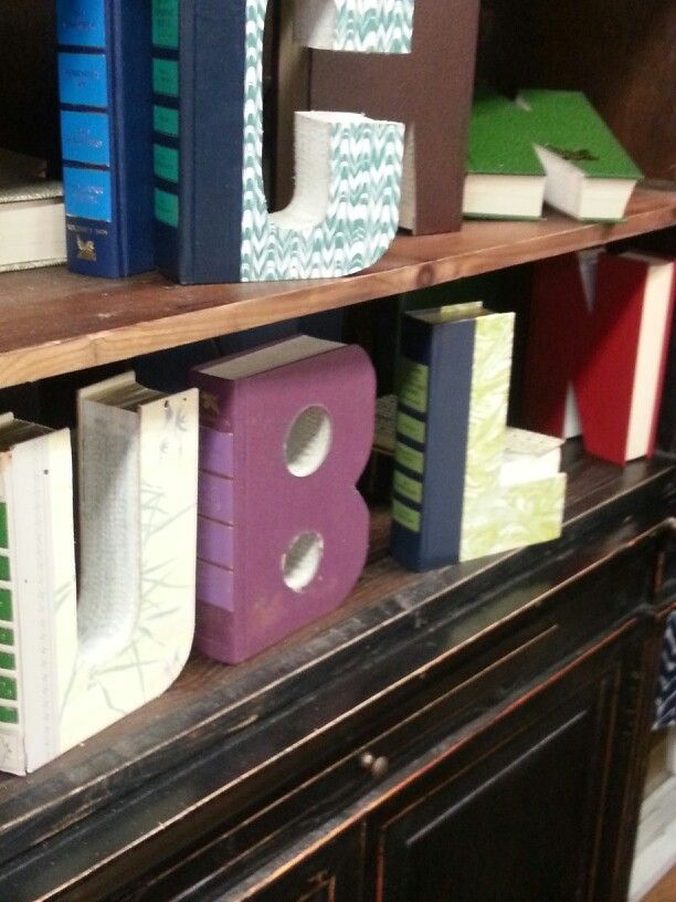 Block letters cut out from old readers digest books great way to block letters cut out from old readers digest books great way to recycle and reuse spiritdancerdesigns Images