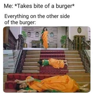 When You Take A Bite From Burger