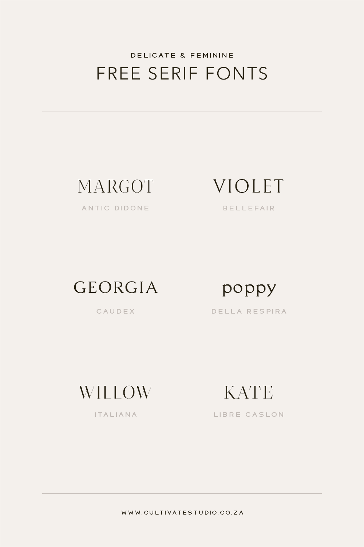 Free Feminine Serif Fonts Vol I Typography Logo Fonts Typography Fonts Minimalist Font