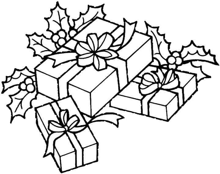 christmas gift coloring pages 1 - Christmas Presents Coloring Pages