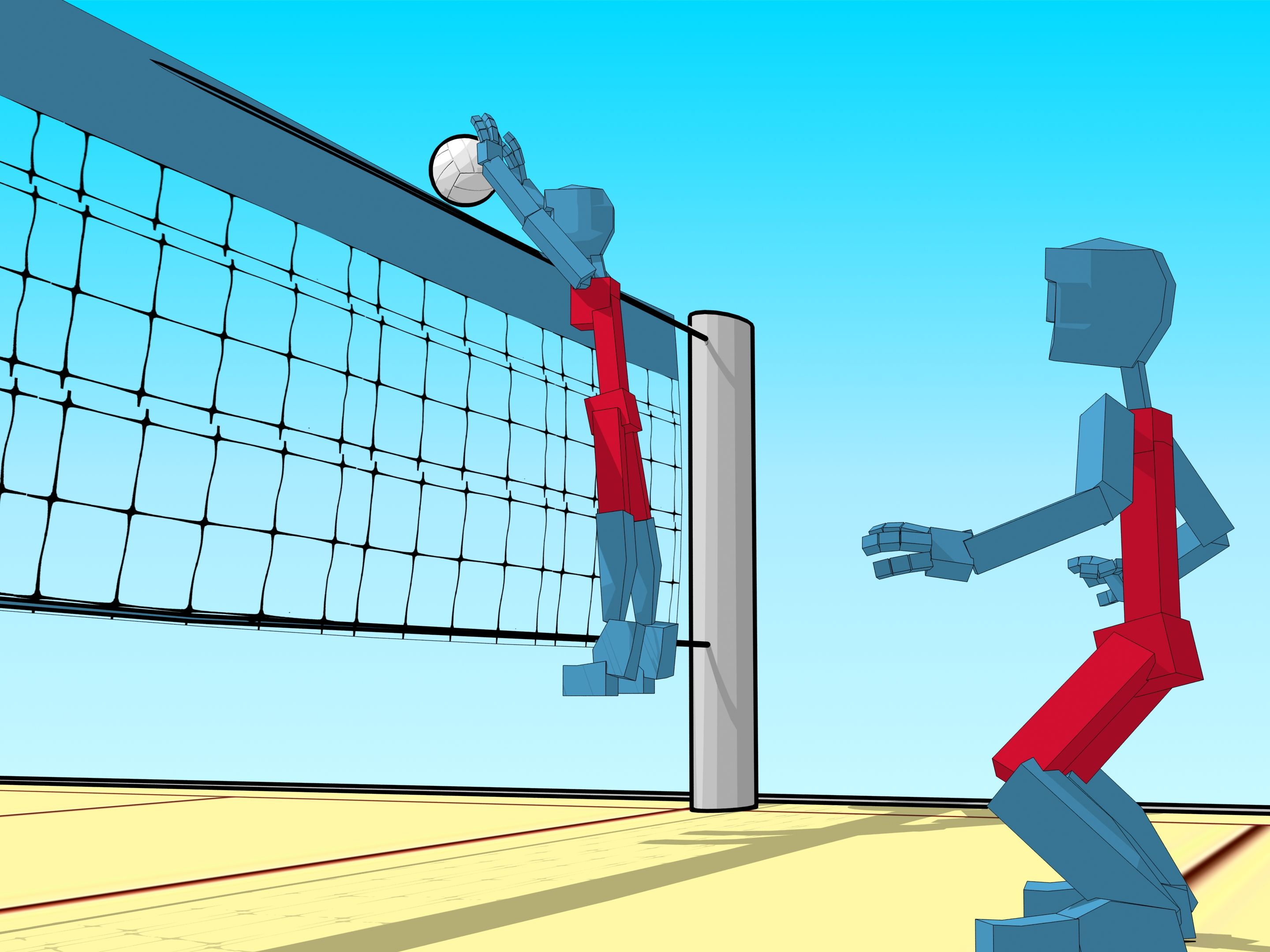 Be A Middle Blocker In Volleyball Volleyball Volleyball Training Coaching Volleyball
