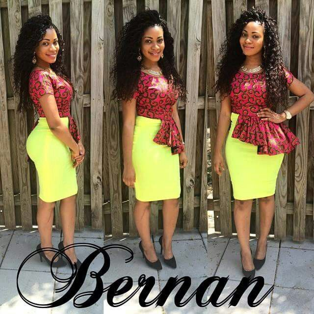 Side Tail Top Dress Skirt Nigerian Styles African