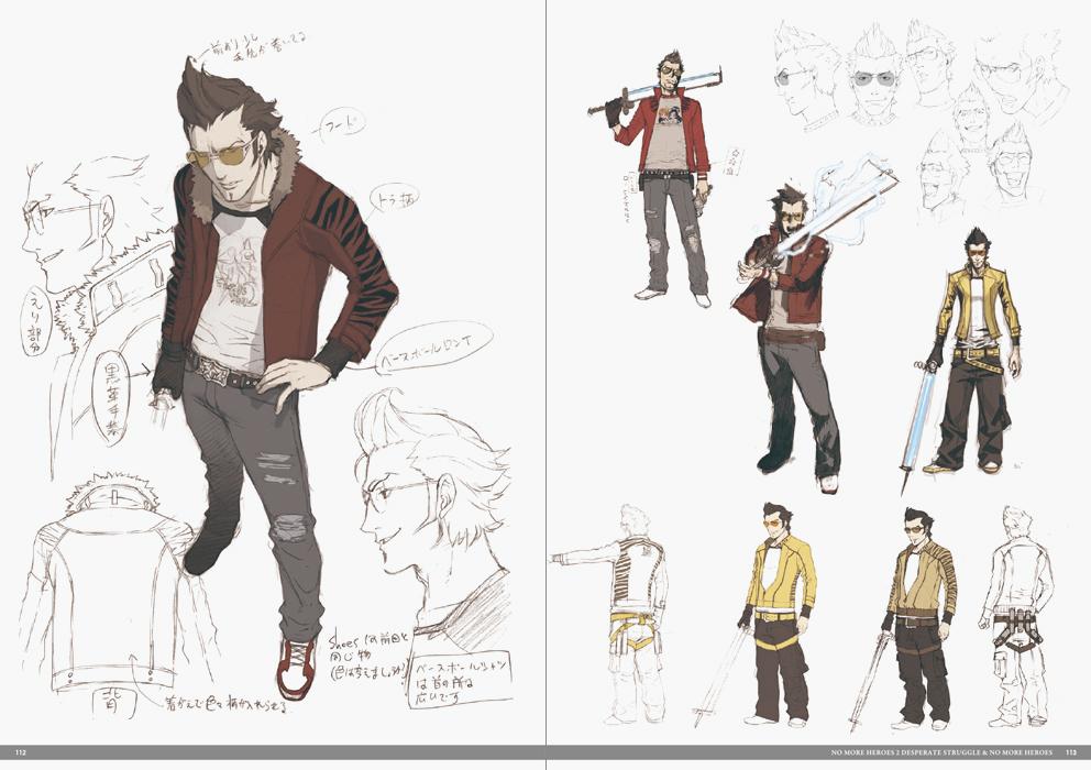 Travis Touchdown Character Sheet Google Search Video Game Design Character Design Video Game Characters