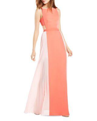 778d1523b3e BCBGMAXAZRIA Square Neck Color Block Gown - 100% Bloomingdale s Exclusive