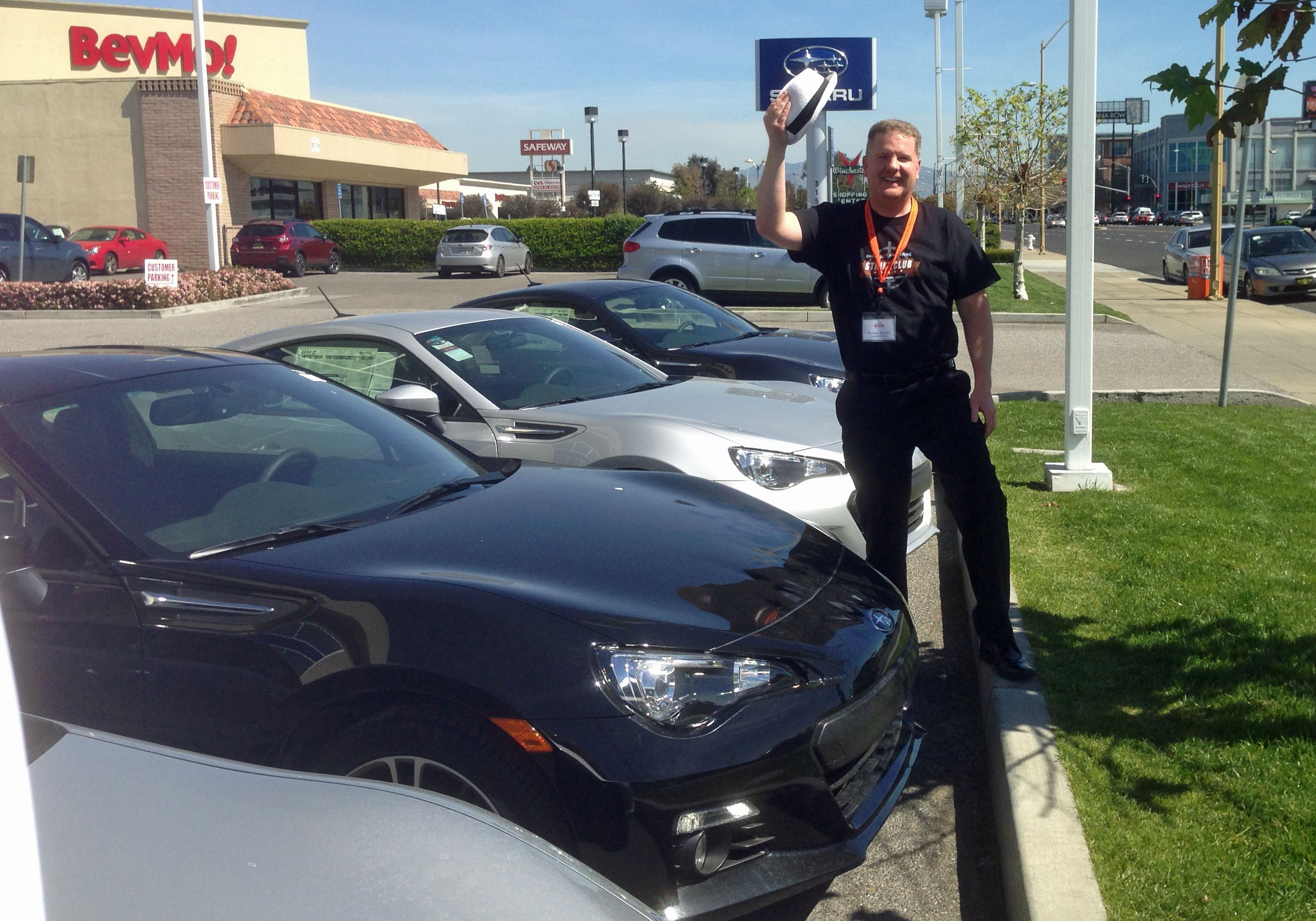 Mike Tips His Hat To Stevens Creek Subaru Strikeclubsiliconvalley