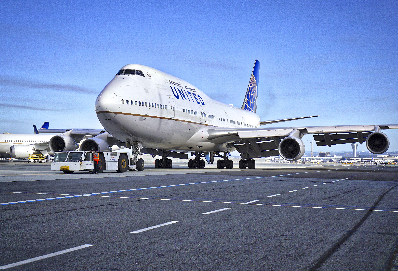 1990 United Airlines Boeing 747 N178UA c/n 24385 at San Francisco Airport. 2017.