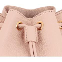 Photo of Hugo Maiden Drawstring Bag Light Beige in a pink bucket bag for women Hugo Boss