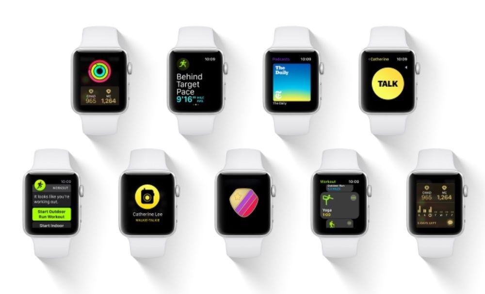 watch OS 5 is here with builtin competitions, Walkie