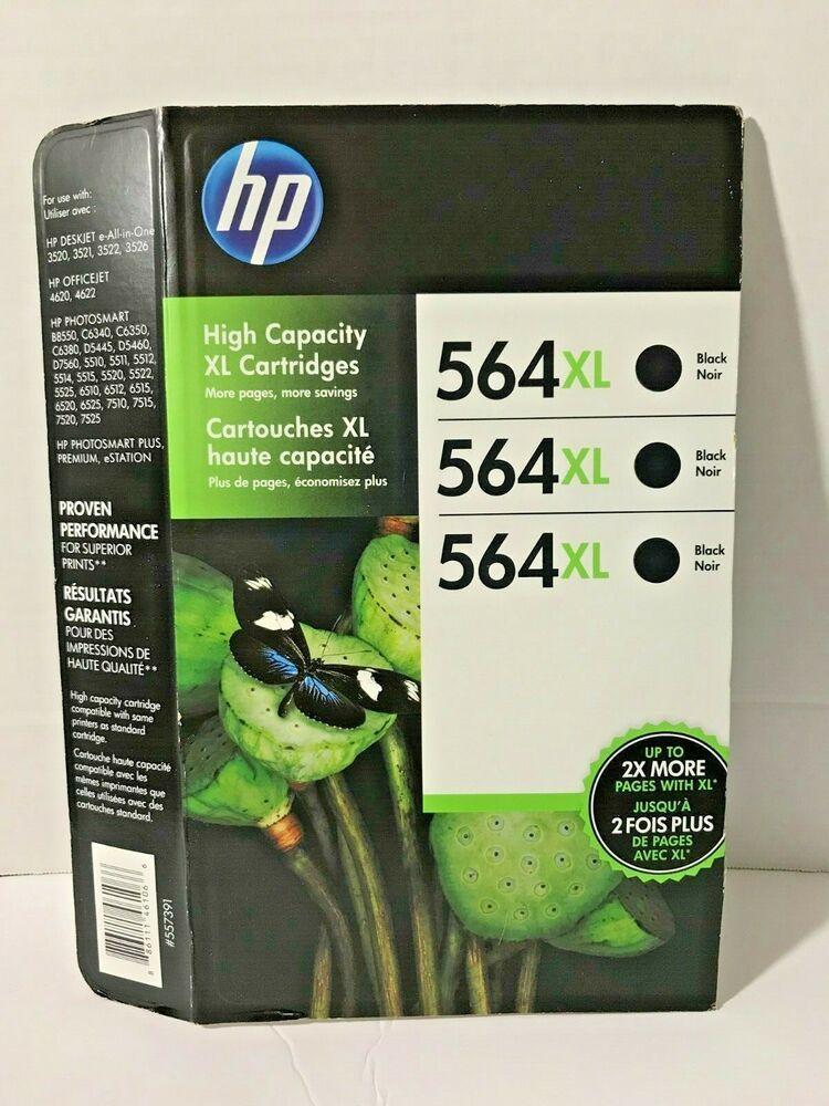 3-Pack HP Genuine 564XL Black Ink Cartridge Missing One