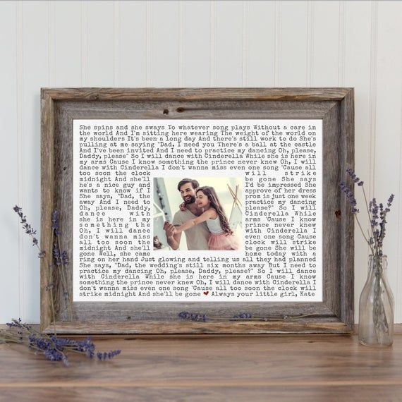 Christmas Song The Gift Lyrics: Custom Fathers Day Gift Framed Song Lyrics Art #weddings